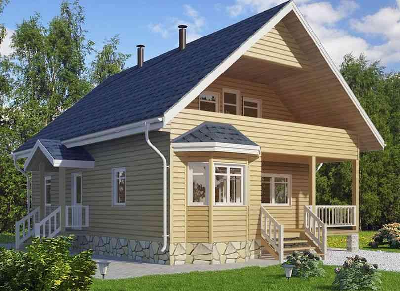 Строительство домов коттеджей баньпод ключ от 9000р/м2