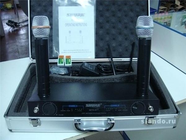 микрофон Shure Beta 87-89 -2. микрофона-радиосистема.кейс.магазин.