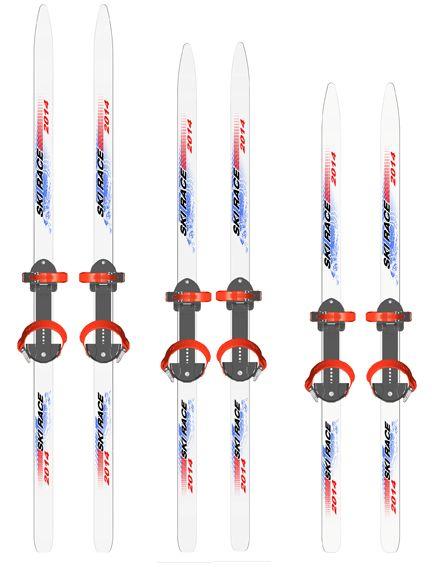 Лыжи подростковые Ski Race 12095 см универсальное крепление Цикл  дешево жми