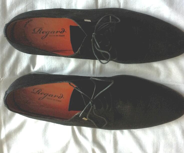 Настоящие мужские туфли Regard из Италии