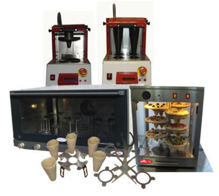 Комплект оборудования для изготовления коно пиццы пицца в конусе