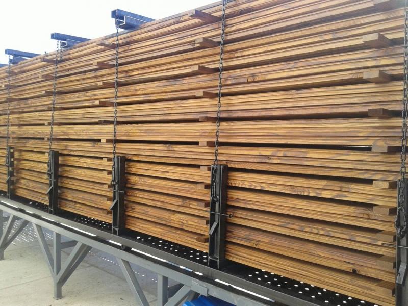 Камера термической обработки термо модификации древесины