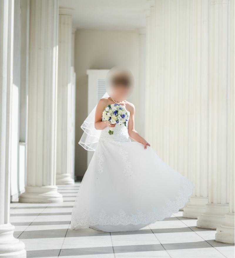 Свадебное платье. Рост 150 см