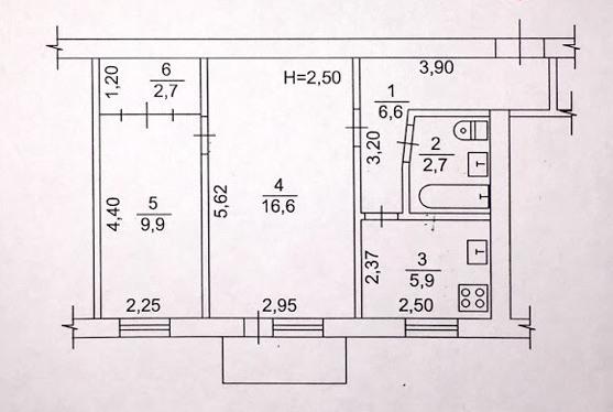 ул.Полтавский Шлях 126.Уютная двухкомнатная квартира.Общая площадь 45 м.кв.,жила