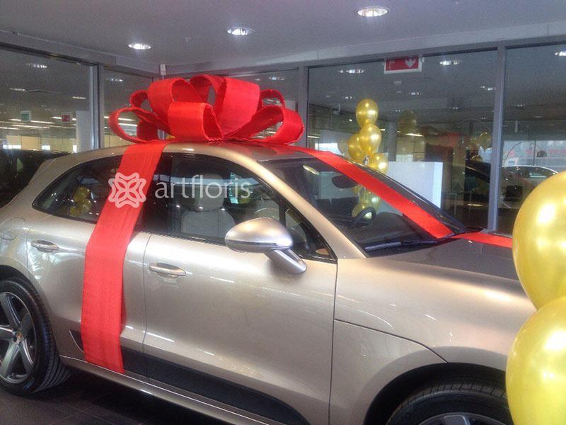 Бант на авто  подарок. Подарочное оформление машины.