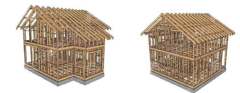 Деревянные каркасы домов