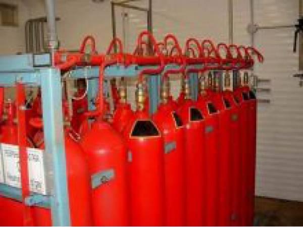 Баллоны газового пожаротушения