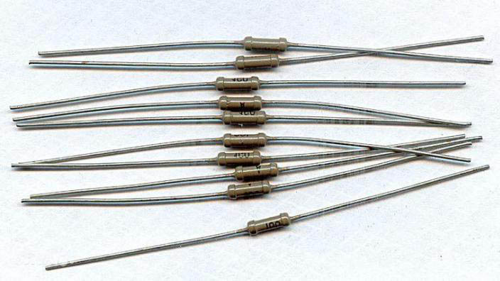 Постоянные резисторы 1 ГОм один гигаом 0,125 Вт для конденсаторных микрофонов.