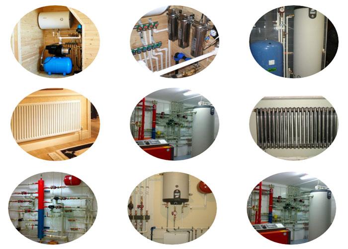 Услуги монтажа водоснабжения и отопления.