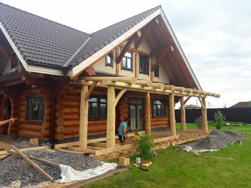 Отделка деревянных домов в Казани
