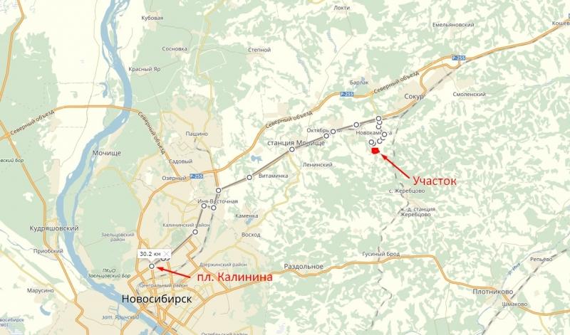 Участок 12 сот. под ижс в пригороде Новосибирска.