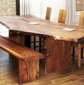 Столы из натурального массива дерева на заказ
