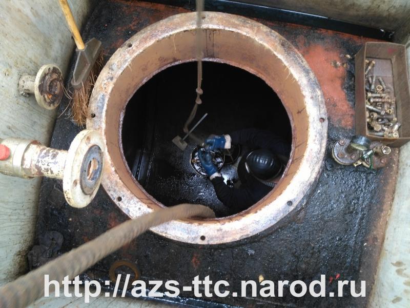Зачистка резервуаров АЗС г. Владимир