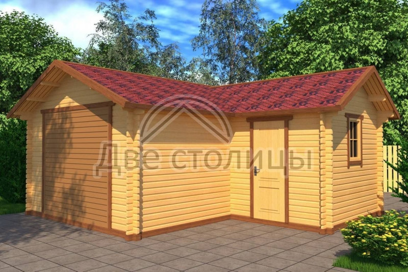 Сколько стоит построить гараж из бруса