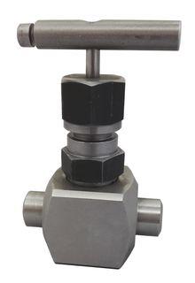 Клапан запорный игольчатый Ду15, Ру 40МПа, муфта-муфтааналог 15с67бк.