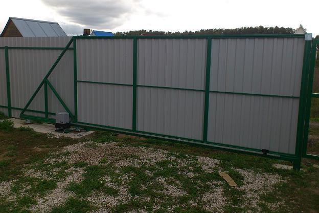 Изготовление и установка откатных ворот