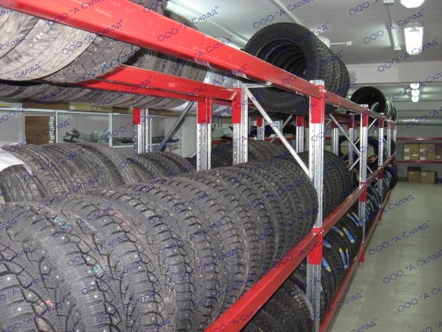 Сборные стеллажи для хранения колес